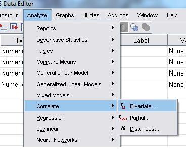 آموزش و تحلیل همبستگی پیرسون در نرم افزار SPSS با ارائه مثال