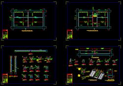 دانلود نقشه اتوکد جزییات اجرایی میانقاب غیر سازه ای بدون بازشو و با باز شو ویرایش 99